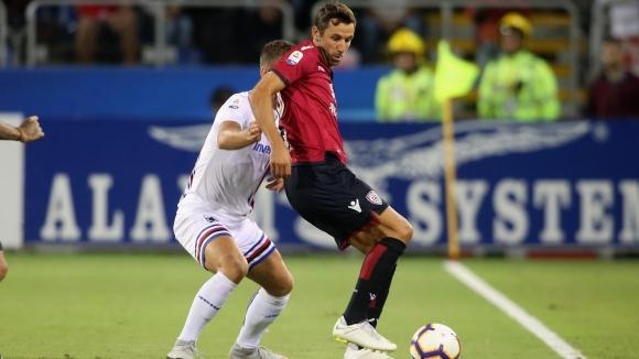 Пропусната дузпа в края лиши Сампдория от победата срещу Каляри