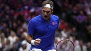 Магията на Федерер го спаси срещу непоколебимия Иснър в Чикаго