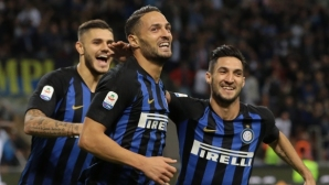 Интер погледна към челото в Серия А след втори пореден успех (видео)