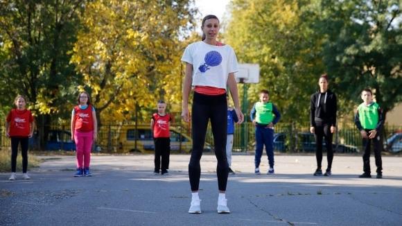 """Мирела Демирева с открита тренировка по """"Детска атлетика"""" в София"""