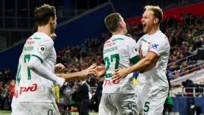 Локомотив триумфира в московското дерби с човек по-малко