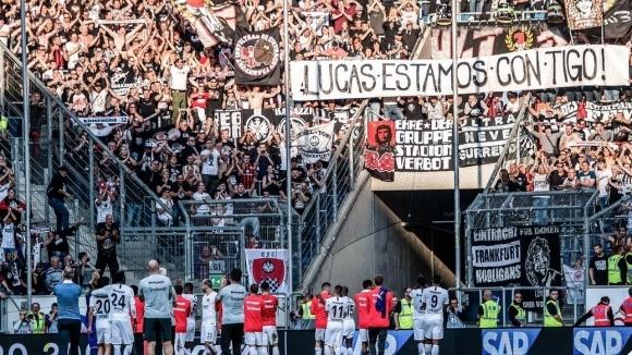 Феновете на Франкфурт трогнаха Торо с послание