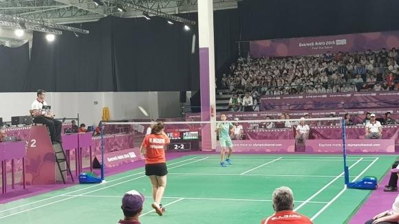 Мария Делчева на полуфинал в бадминтона на Младежката олимпиада