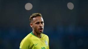 Неймар се отчете с две асистенции при успех на Бразилия над Саудитска Арабия
