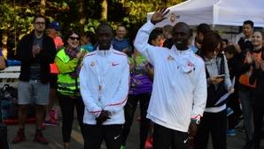 Рекордьори в бягането загряваха в Южния парк ден преди Маратон София