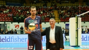 Виктор Йосифов взе наградата за блокировач №1 в Италия, но се контузи (видео + снимки)