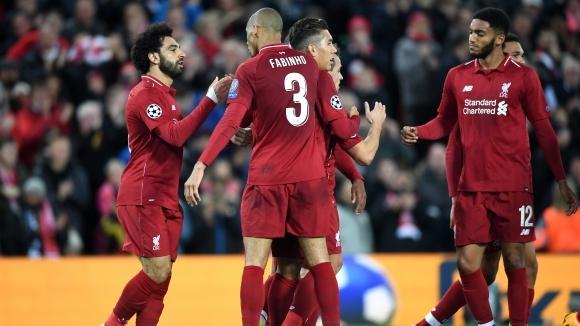 Нападателното трио на Ливърпул влезе в ритъм срещу Звезда (видео)
