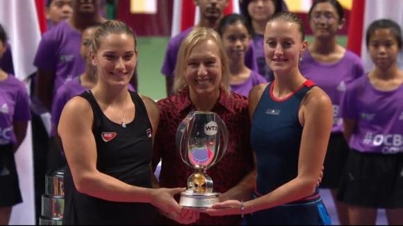 Бабош и Младенович спечелиха титлата на двойки на заключителния турнир в Сингапур