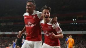 Арсенал - Лестър 3:1, гледайте тук!