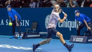 Федерер стартира с трудна победа в Базел