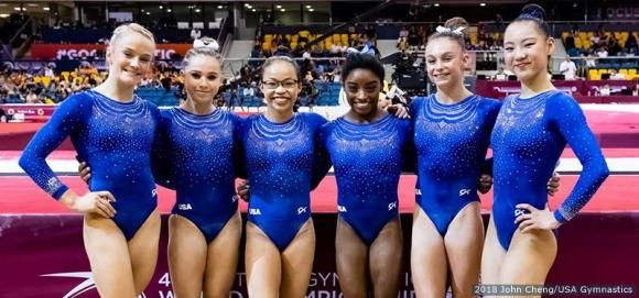Женският тим на САЩ защити титлата си в отборната надпревара на СП в Доха