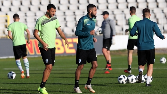 Футболистите на Черно море направиха възстановителна тренировка след победата над Левски