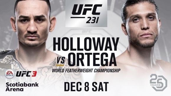 Ето го промо клипа за UFC 231 -