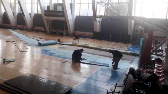 Ремонтираха частично залата на ЦСКА