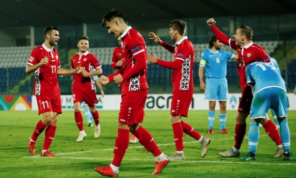 Молдова се добра до победа в Сан Марино