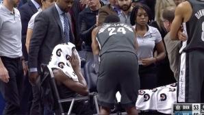 Жестока контузия помрачи вечерта в НБА