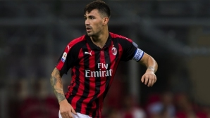 """Капитанът на Милан с контузия, напусна лагера на """"Скуадра Адзура"""""""