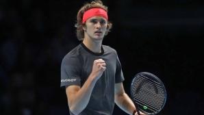 Зверев стигна най-големия финал в кариерата си, подчинявайки Федерер