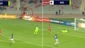 Вратар вкара куриозен гол в исторически мач (видео)
