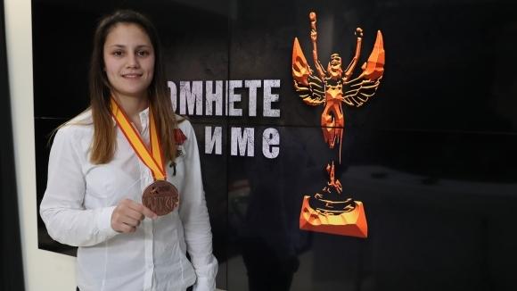 Ивет Горанова получи плакет от кмета на Плевен за медала си от Световното по карате