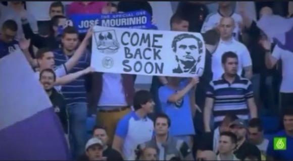 Фенове на Реал с послание към Жозе Моуриньо