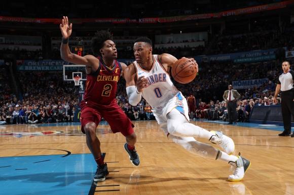 """Ръсел Уестбрук направи 107-ми """"трипъл-дабъл"""" в НБА"""