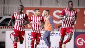 Късен гол зарадва Олимпиакос (видео)