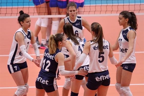 Волейболистките на Левски отпаднаха от Купата на CEV (снимки)