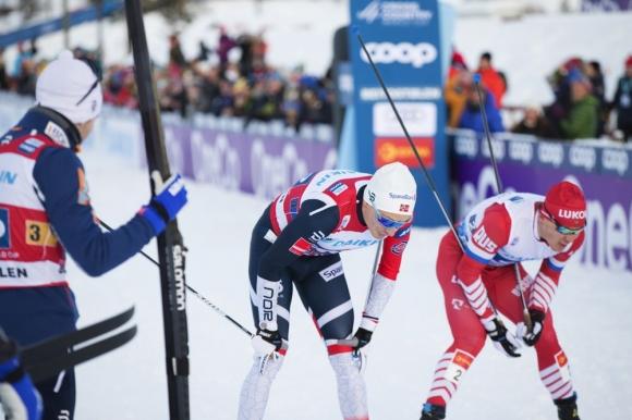 Норвегия изпревари с по-малко от секунда Русия за победата в мъжката щафета в ски бягането (видео + снимки)