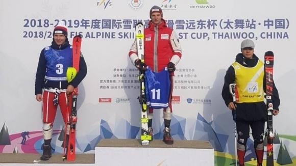 Камен Златков спечели слалома за Континенталната купа на олимпийското...