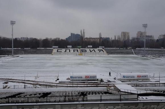 """Стадион """"Славия"""" светна (снимки)"""