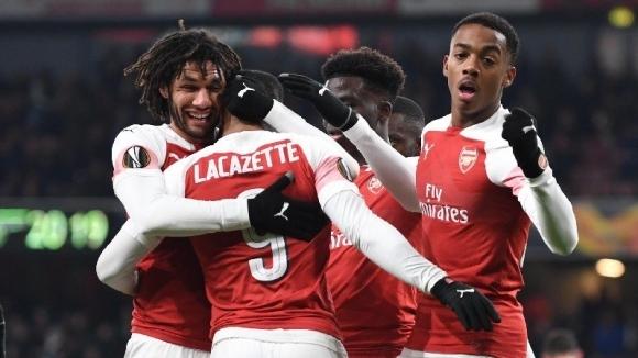 "Лаказет поведе младите ""артилеристи"" към пета победа в групите на Лига Европа (видео)"