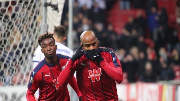 Бордо превзе Копенхаген с брилянтен гол с пета (видео)