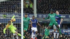 Уотфорд изпусна победата срещу Евертън