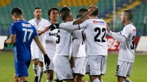 """Славия - Верея 0:0, две греди за """"белите"""" в първата минута"""