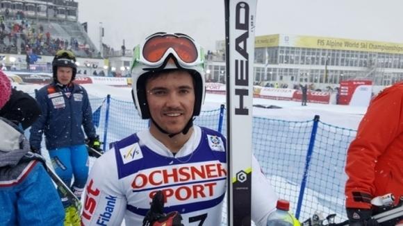 Попов и Златков останаха извън първите 30 в първия манш на слалома от СК