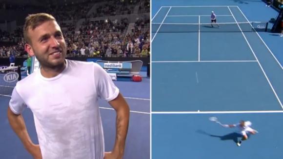 Изумително! Вижте какво направи този тенисист (видео)