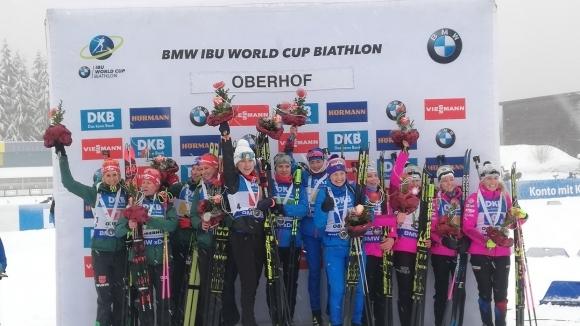 Русия спечели женската щафета в Оберхоф, България остана на 14-о място (видео)