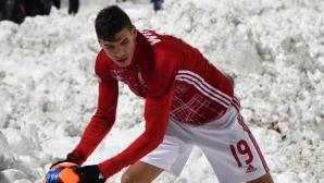 ЦСКА-София проведе открита тренировка, Бодуров е болен