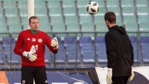 Изтощителна тренировка за вратарите в ЦСКА-София (видео)