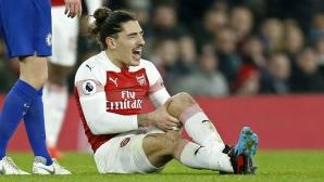Тежък удар за Арсенал - Белерин е аут до края на сезона