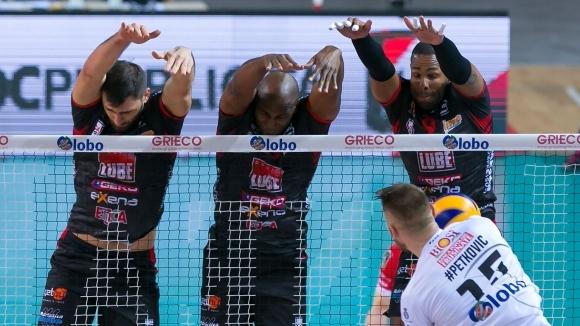 Цецо Соколов и Лубе с лесна победа срещу слабак в Италия