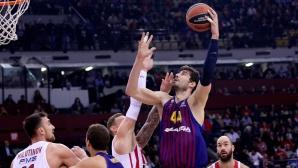 Олимпиакос загуби от Барселона, Везенков игра 7 минути срещу бившия си отбор