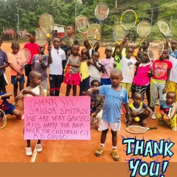 Григор Димитров направи щедро дарение за деца в Африка