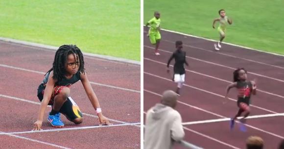 Това 7-годишно момченце ще ви смае с феноменалната си бързина (видео)