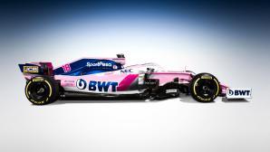 Рейсинг Пойнт с нов спонсор, но пак в розово