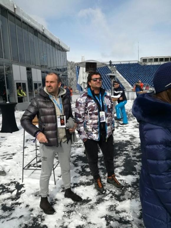 Алберто Томба пристгна в Банско, пожела успех на Алберт Попов (снимки)