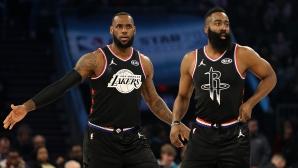 """Отборът на ЛеБрон триумфира в """"Мача на звездите"""" в НБА"""