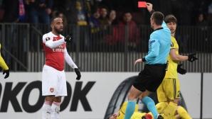 УЕФА не показа милост към Лаказет от Арсенал