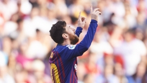 """Севиля - Барселона 1:1, Меси вкара феноменален гол """"ала Зидан"""""""